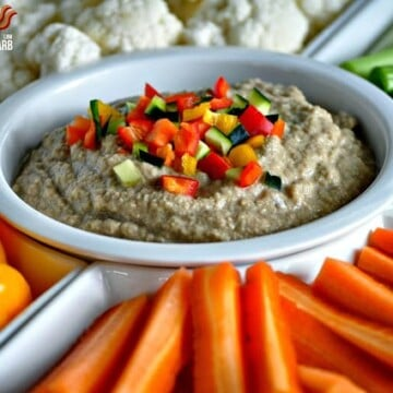 Balsamic Hummus - Low Carb, Paleo