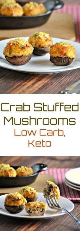 Crab stuffed Mushrooms | Peace Love and Low Carb