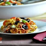 Supreme Pizza Cauliflower Casserole