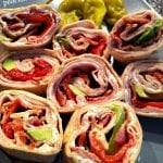 Low Carb Turkey Club Pinwheels