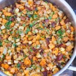 Yam Celery Root Bacon Hash