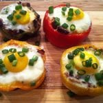 """The Everything"" Breakfast Stuffed Pepper Cups"