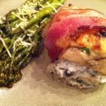 Bacon Wrapped Chicken Stuffed W/ Mushroom Ricotta