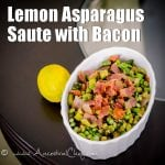Lemon Asparagus Saute with Bacon