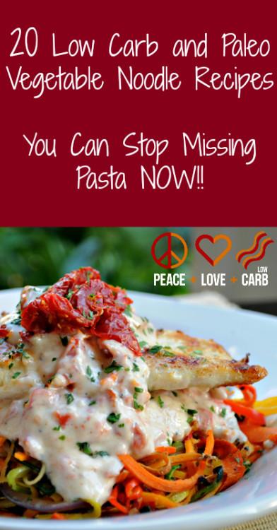 20 Low Carb & Paleo Vegetable Noodle Recipes