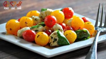 Mini Caprese Salad with Balsamic Shallot Vinaigrette