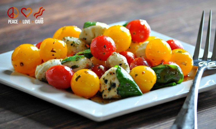 Low Carb Caprese Salad | Peace Love and Low Carb