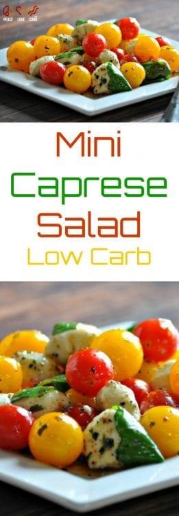 Mini Caprese Salad | Peaec Love and Low Carb