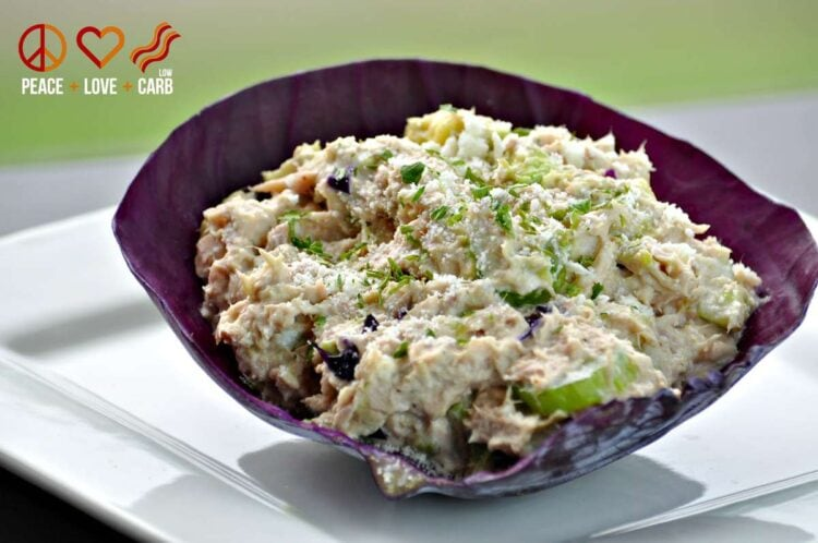 Avocado Tuna Salad - Low Carb, Gluten Free, Paleo