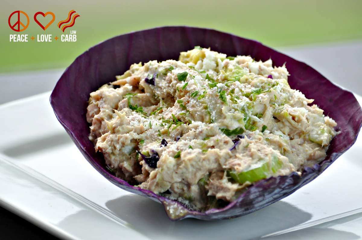 Avocado Tuna Salad - Low Carb, Gluten Free, Paleo