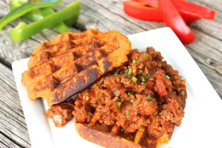 ... Sloppy Joes with Sweet Potato Waffles – Paleo, Low Carb, Gluten Free
