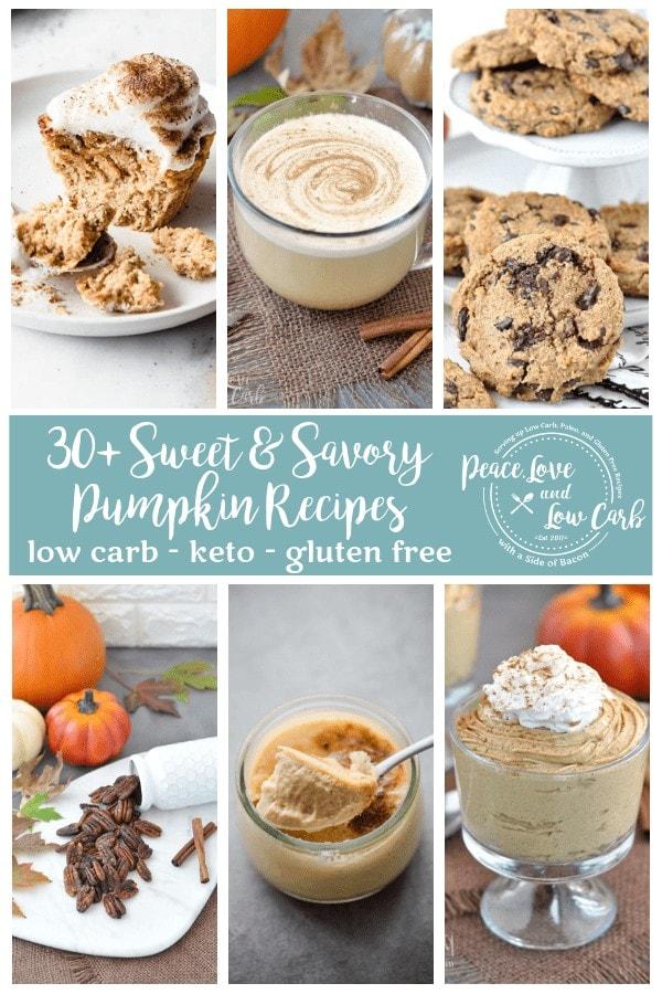 Pumpkinpalooza - 30+ Low Carb, Sweet and Savory Pumpkin Recipes