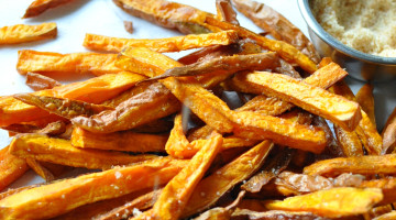 Sriracha Sweet Potato Fries - Paleo, Gluten Free