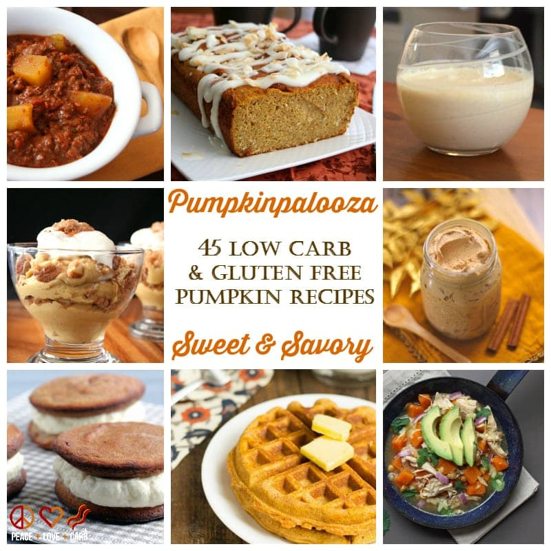 Pumpkinpalooza - 45 Low Carb, Sweet and Savory Pumpkin Recipes #lowcarb #pumpkinrecipes #pumpkin #keto