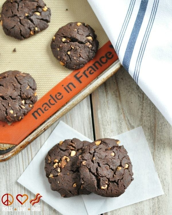 Chewy Chocolate Peanut Butter Bacon Cookies – Low Carb, Gluten Free