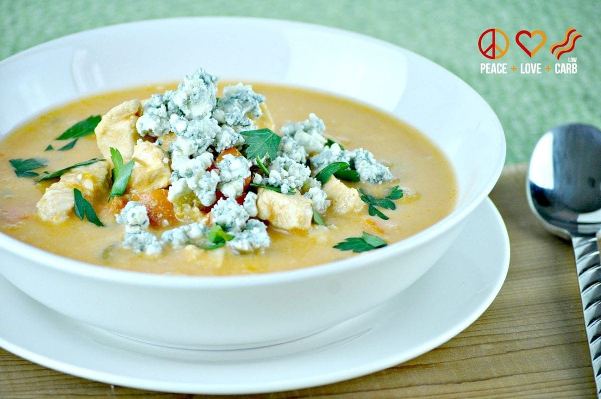 Buffalo Chicken Soup - Low Carb, Gluten Free | Peace Love and Low Carb