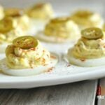 Jalapeno Popper Deviled Eggs with Bacon - Low Carb, Gluten Free