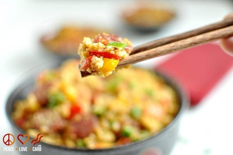 "Chinese Sausage Fried ""Rice"" 