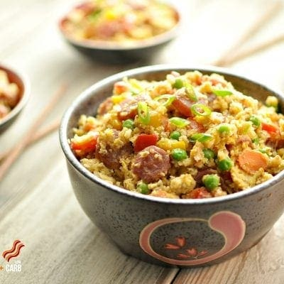"Chinese Sausage Fried ""Rice"" – Low Carb"