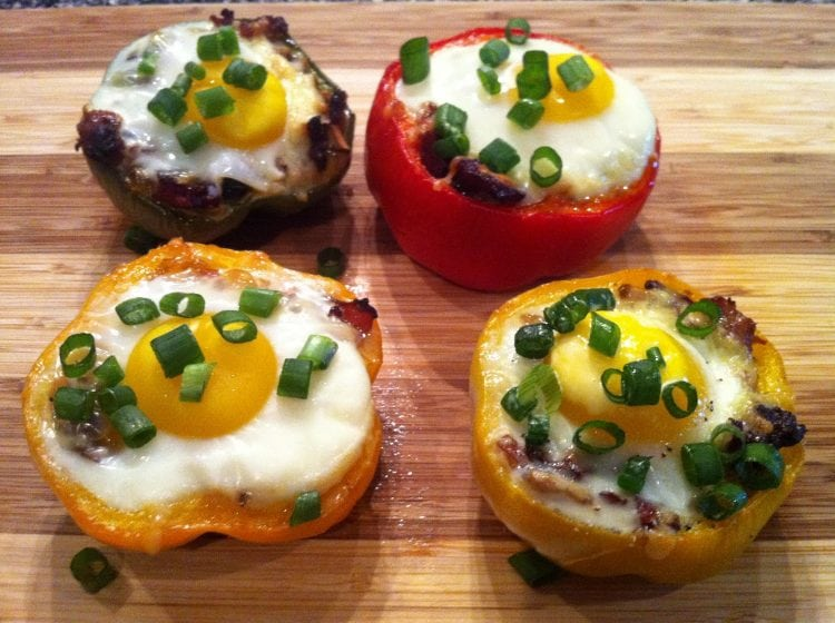 The Everything Stuffed Breakfast Peppers - 50 Low Carb Stuffed Peppers Recipes Round Up | Peace Love and Low Carb