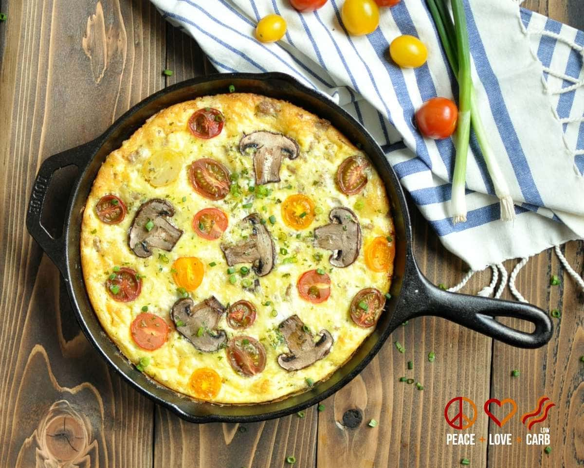 Sausage, Sharp White Cheddar and Heirloom Tomato Frittata ...