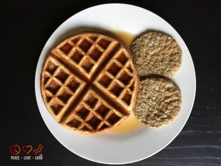 Low Carb, Paleo Waffles - Breakfast Day 4 - My 100 Pound Journey Peace Love and Low Carb