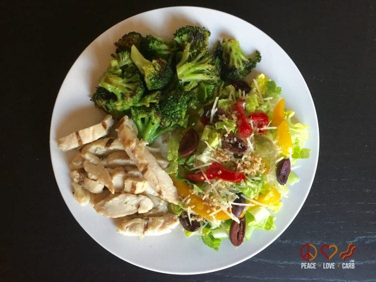Chicken Broccoli and Salad | Peace Love and Low Carb