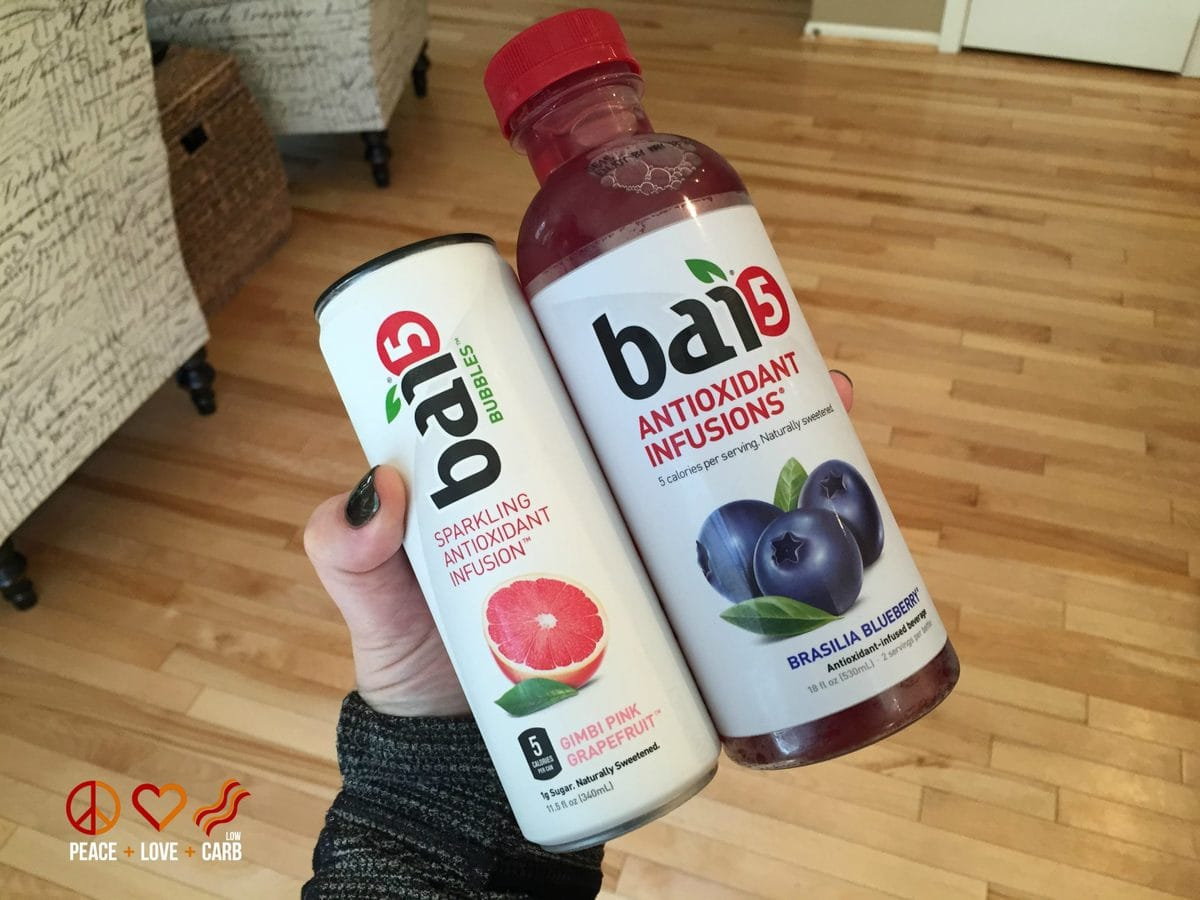 Bai 5 Sparkling Antioxidant Infusion Drink - Peace Love and Low Carb