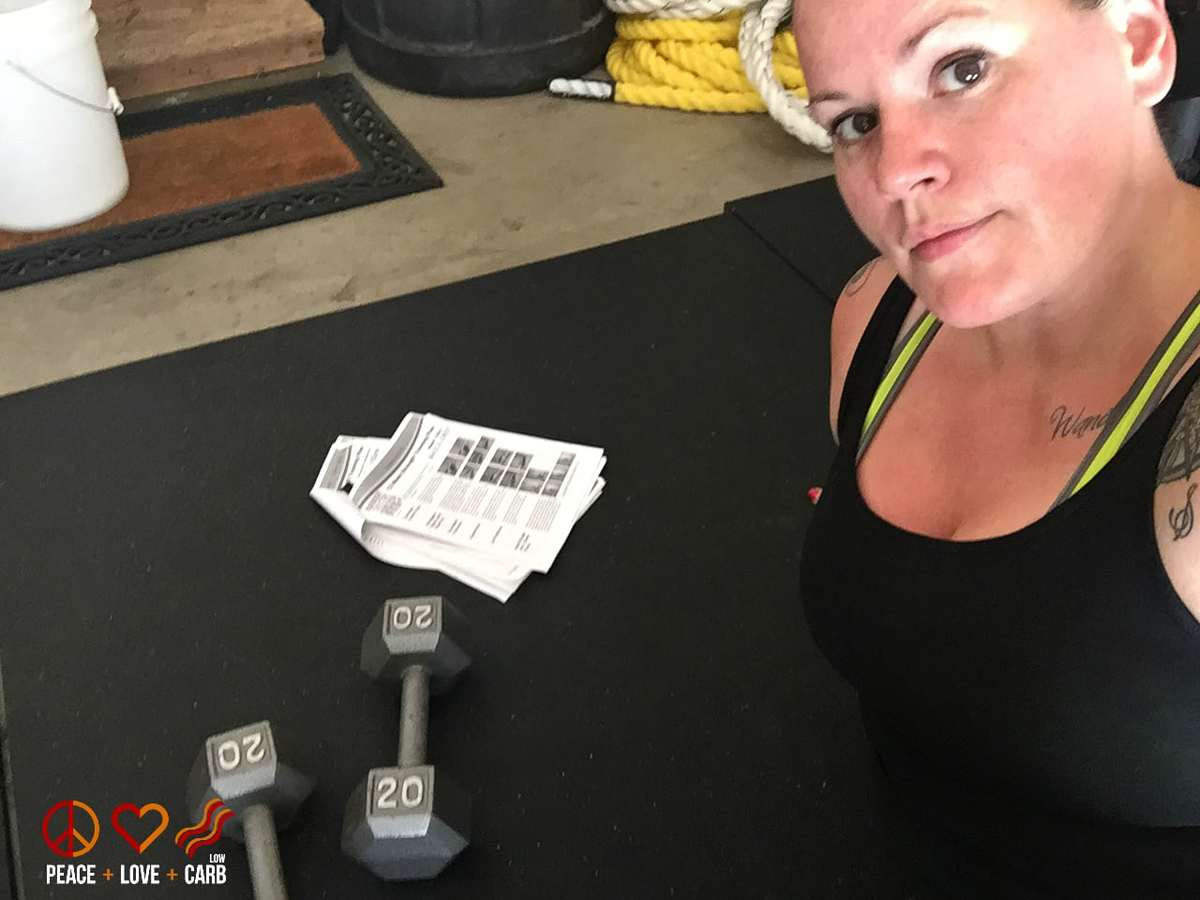 Day 27 Workout - My 100 Pound Journey | Peace Love and Low Carb