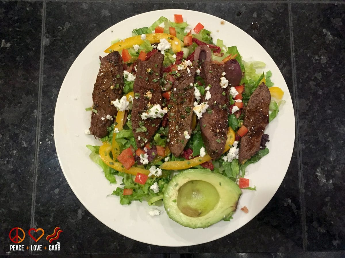 Steak Salad - My 100 Pound Journey -| Peace Love and Low Carb