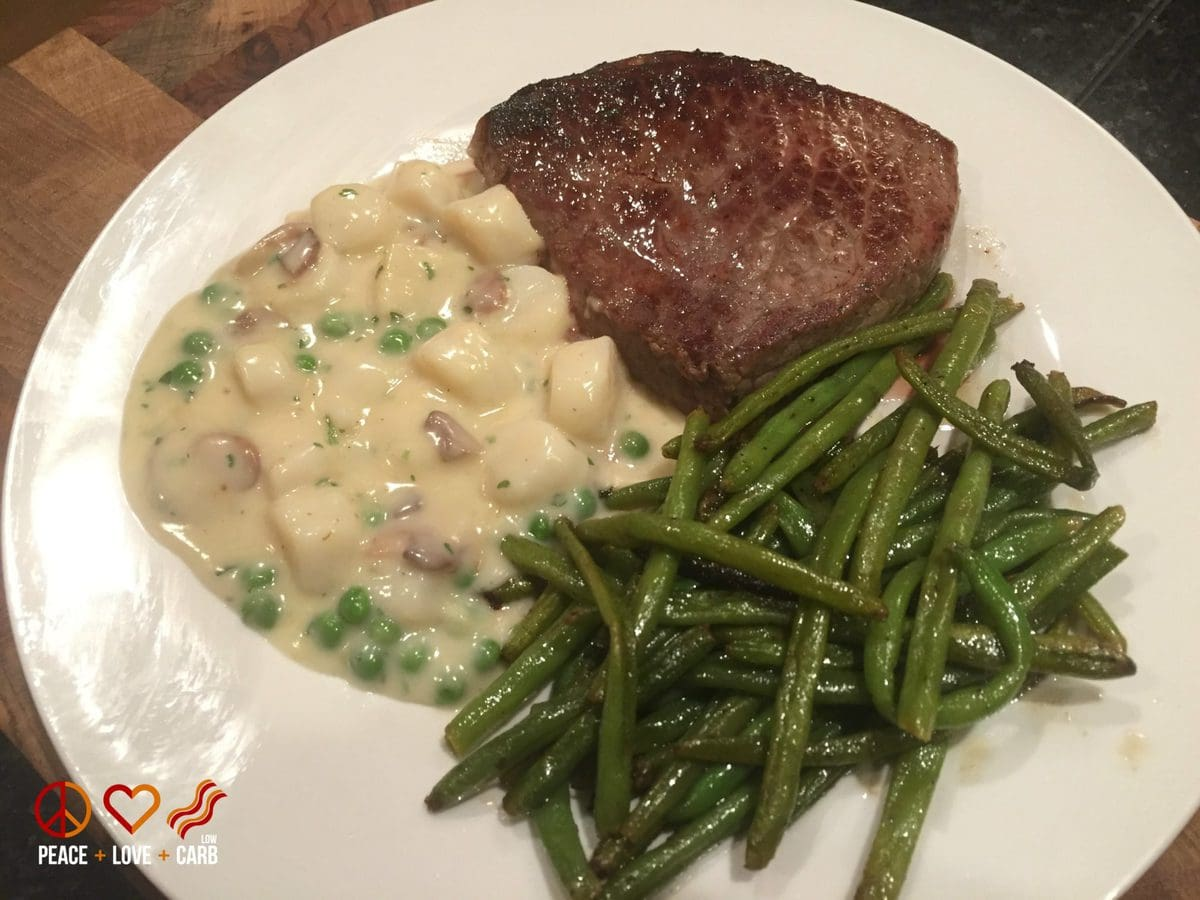 Steak and Scallops with Green Beans - Peace Love and Low Carb