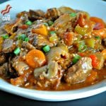 Hearty Slow Cooker Beef Stew | Peace Love and Low Carb