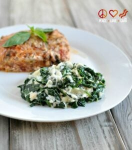 Low Carb Cheesy Garlic Creamed Spinach Peace Love And Low Carb