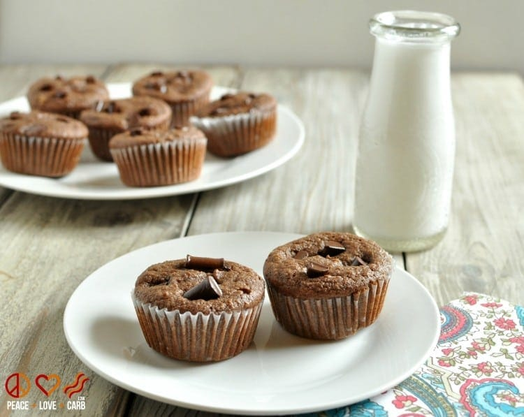Chocolate Mocha Cupcakes - Low Carb, Gluten Free | Peace Love and Low Carb