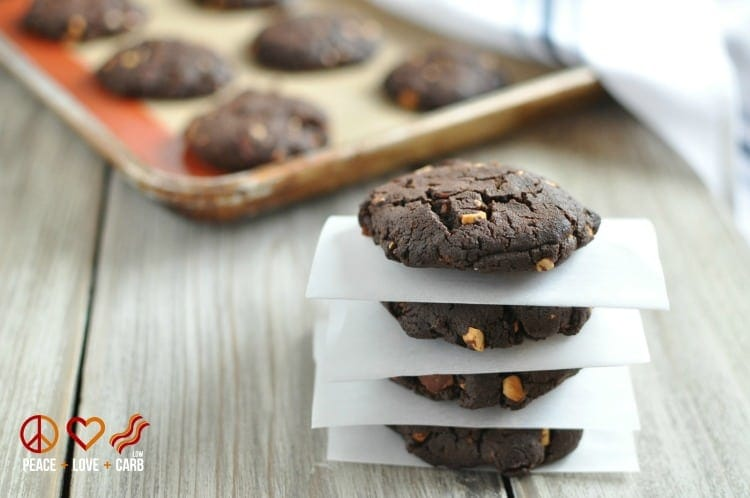 Chocolate Peanut Butter Bacon Cookies, - Low Carb, Gluten Free   Peace Love and Low Carb