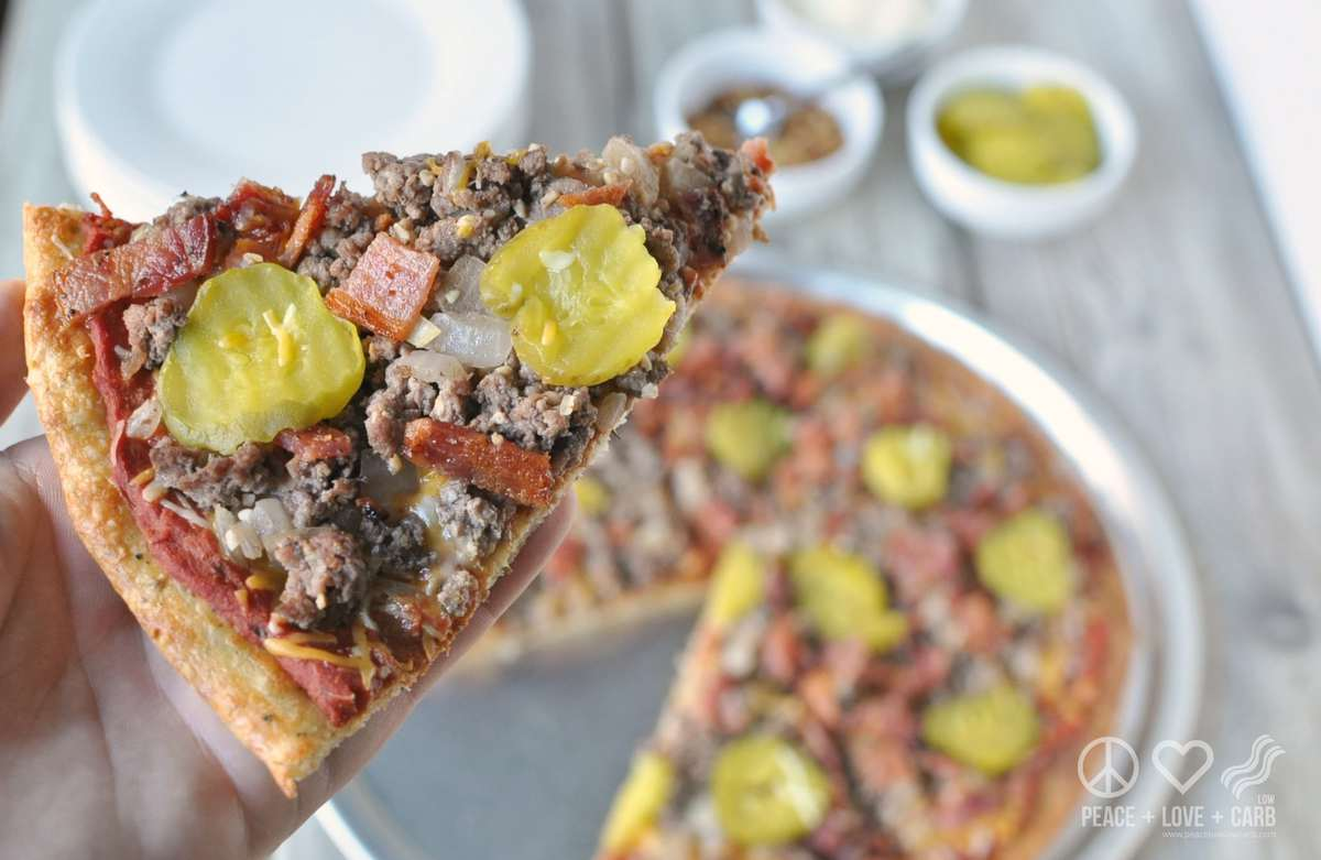 Bacon Cheeseburger Pizza - Low Carb and Gluten Free
