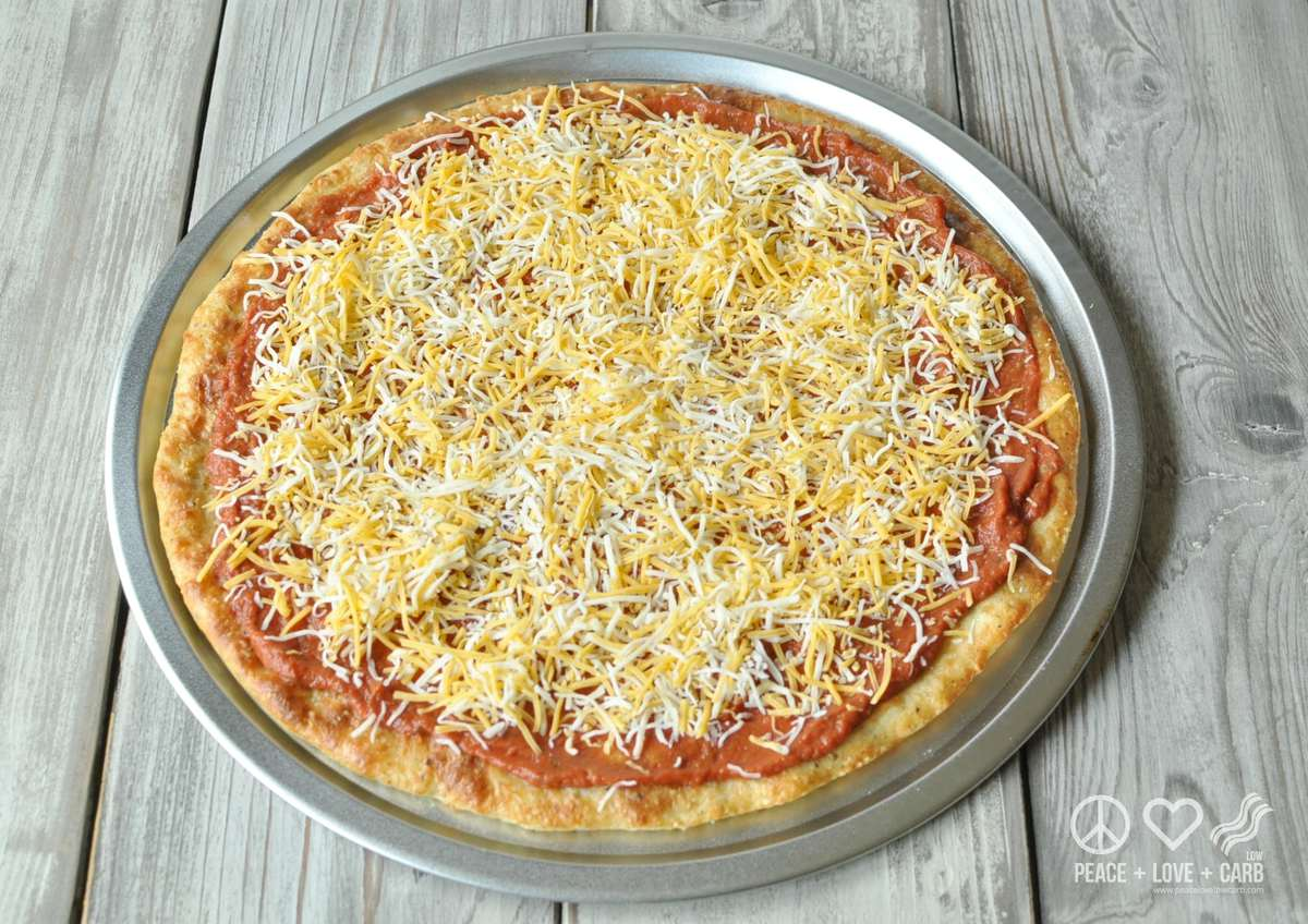 Low Carb and Gluten Free Cheese Pizza - Peace Love and Low Carb