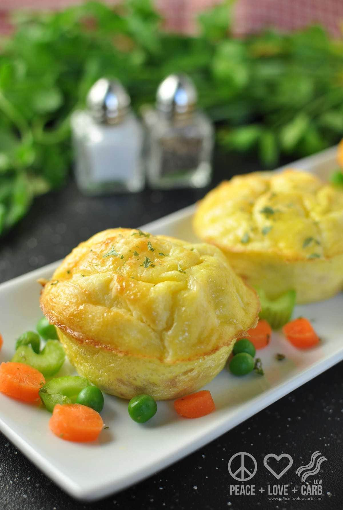 NEW RECIPE - Chicken Pot Pie Egg Muffuns - Peace Love and Low Carb