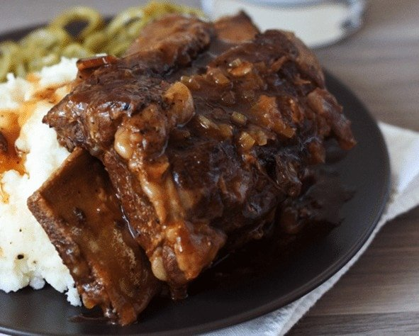 Bone-In Beef Short Ribs - Low Carb Pressure Cooking Recipes | Peace Love and Low Carb