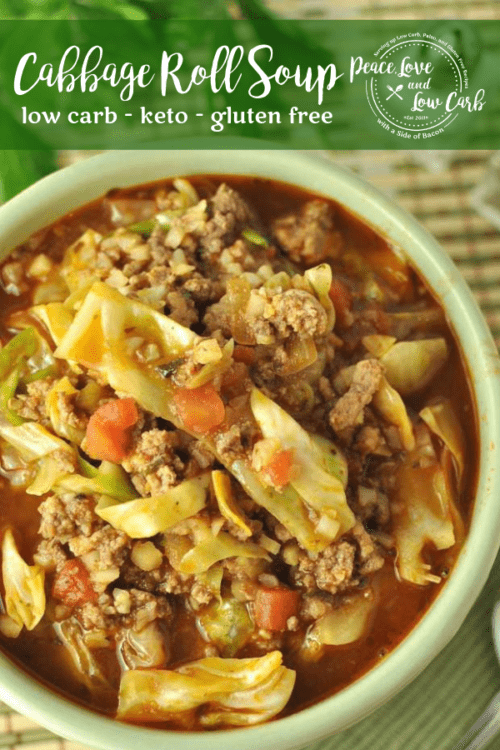 This Paleo Keto Cabbage Roll Soup is hearty and comforting, with all the classic flavors of a cabbage roll.
