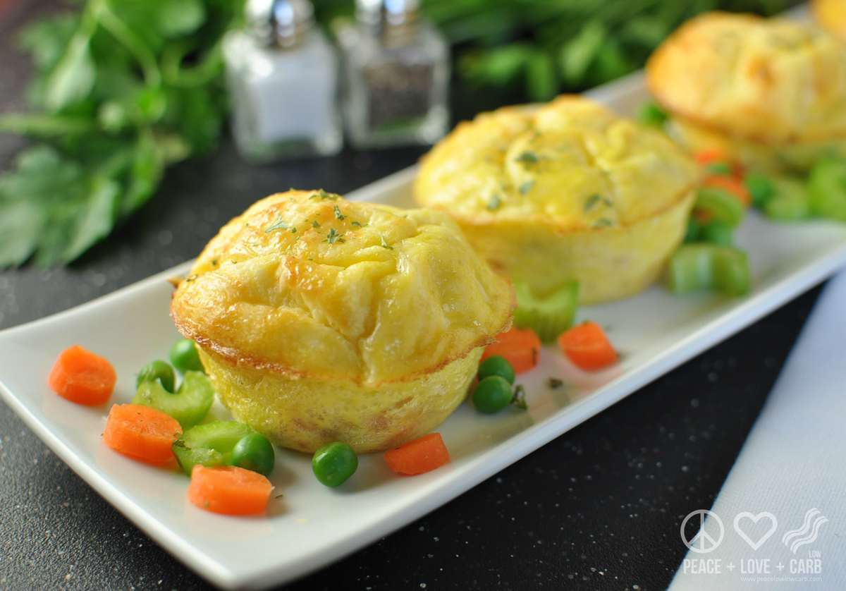 Chicken Pot Pie Egg Muffins - Peace Love and Low Carb | Peace Love and Low Carb