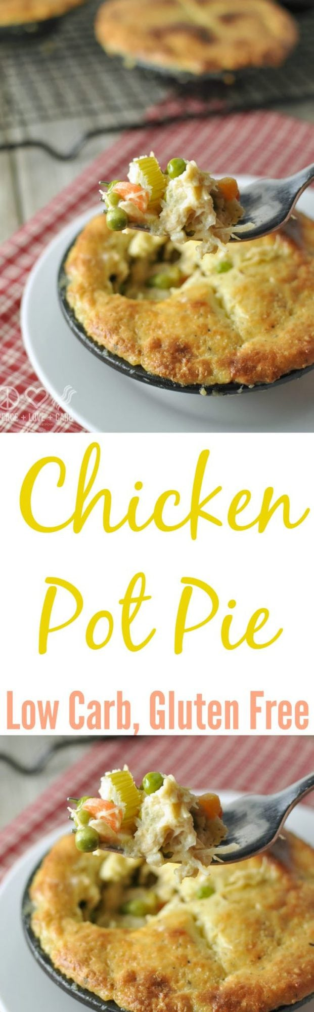 Chicken Pot Pie - Low Carb, Gluten Free Peace Love e Low Carb