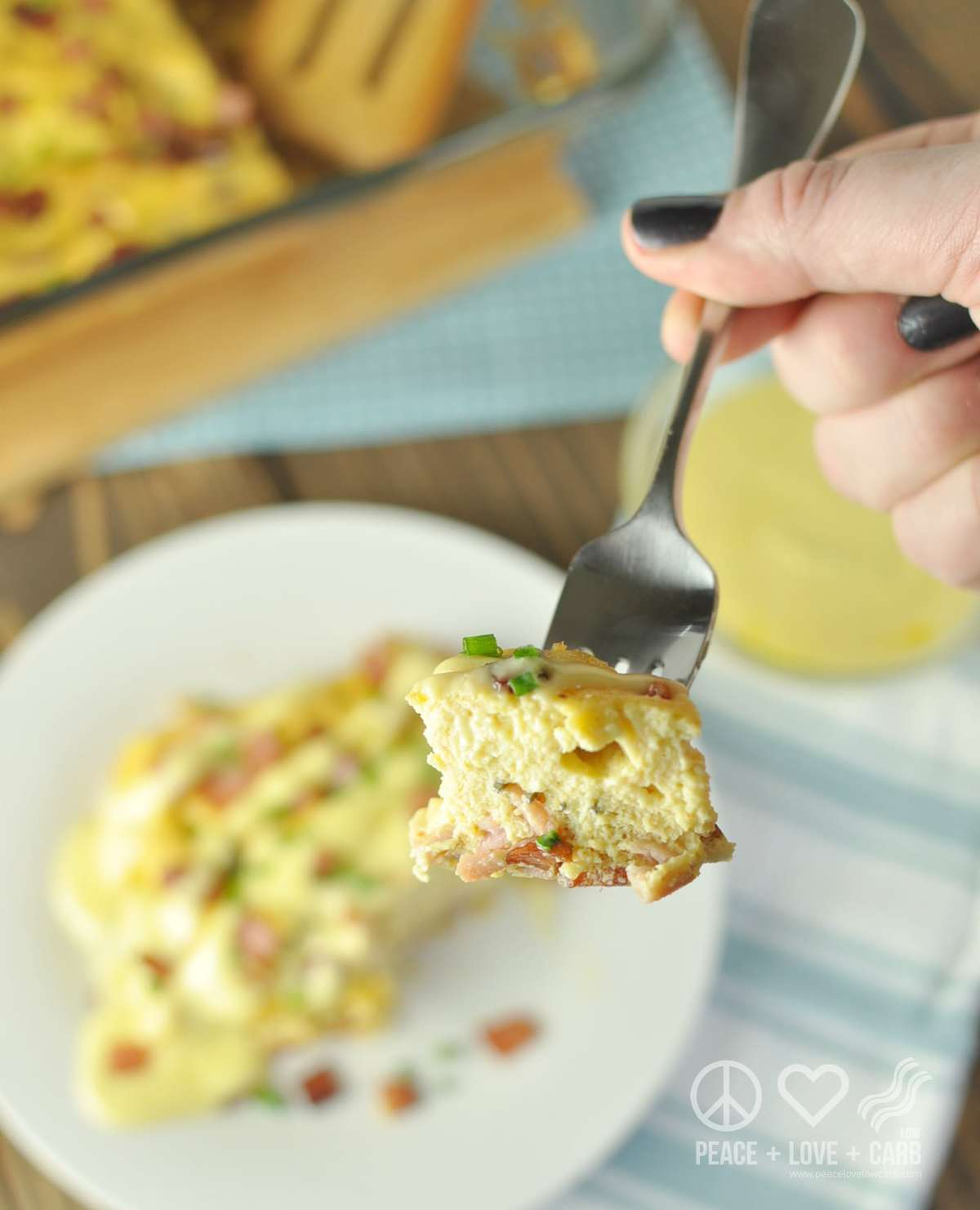 Keto Eggs Benedict Casserole - Low Carb, Gluten Free