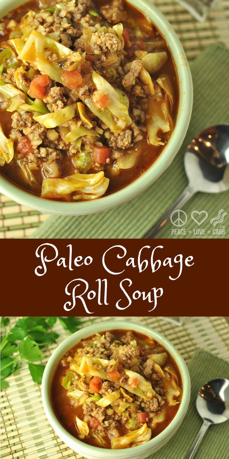 keto cabbage roll soup peace love and low carb. Black Bedroom Furniture Sets. Home Design Ideas