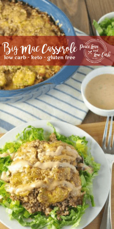 This Low Carb Big Mac Casserole has all the flavor of a Big Mac without all the carbs and fast food additives! It's delicious, and kid and husband approved.