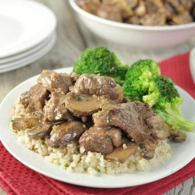 Beef Tips in Mushroom Brown Gravy - Low Carb, Gluten Free, Primal | Peace Love and Low Carb