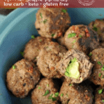 So many delicious flavors all in one dish. These White Cheddar and Sun Dried Tomato Avocado Stuffed Meatballs are juicy, delicious, and crazy flavorful.