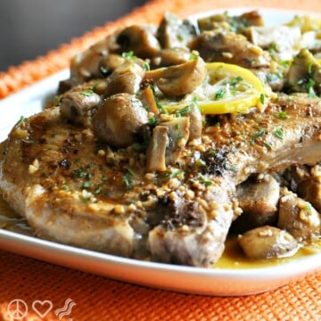 Lemon Garlic Pork Steaks with Mushrooms - Low Carb, Gluten Free | Peace Love and Low Carb