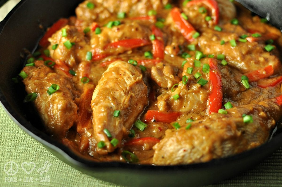 Peanut Chicken Skillet | Peace Love and Low Carb