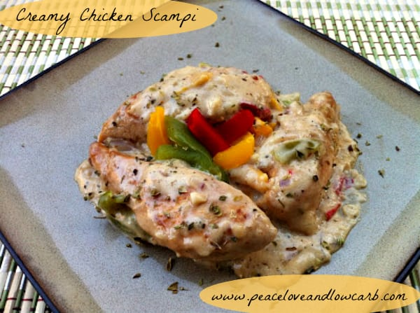 Creamy Low Carb Chicken Scampi | Peace Love and Low Carb